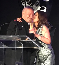 Kutza receives the Lifetime Achievement Award from his friend/producer Paula Wagner.