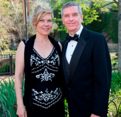 Danielle Russell and Kevin Bell (LP Zoo pres/CEO)