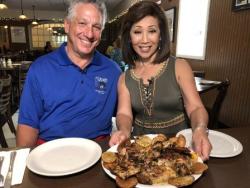 """Tufano's Joey DiBuono with Linda Yu (""""Food We Love"""")"""