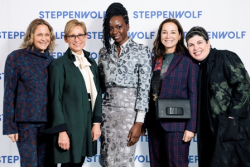 Julie Sacks, First Lady of Chicago Amy Rule, honoree Danai Gurira, Steppenwolf trustee Cari B. Sacks and Sally Garon