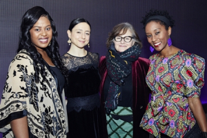 Regina Victor, Danya Taymor, Hallie Gordon and Steppenwolf ensemble member Celeste M. Cooper