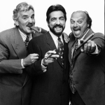 Hauser photograph of Dennis Farina, Joe Mantegna and Dennis Franz