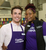 Charlie Jungwirth (C2C's Corporate and Family Volunteer Coordinator),and Ayanna Armstrong (Senior Development Associate) organized the event's festivities