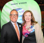 Chicago Flower & Garden Show founder Tony Abruscato and Navy Pier's CEO Marilynn Gardner