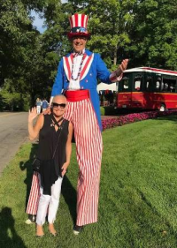 I didn't realize Uncle Sam was soooo tall!