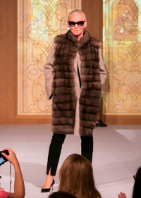 Wearing Maximilian Fur by Bloomingdale's.
