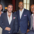 The Boys' Club--with Justin Jacobson (front), D.C. Crenshaw (R), Rich Gamble (2nd from R) and friend