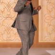 CBS-2's Ryan Baker dances his way down the runway to wild applause!