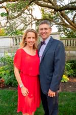 Shedd pres/CEO Bridget Coughlin and husband Brian Wegner