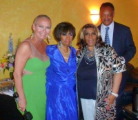 With Aretha Franklin, Hermene Hartman and Reverend Jesse Jackson at N'DIGO Gala in 2012.