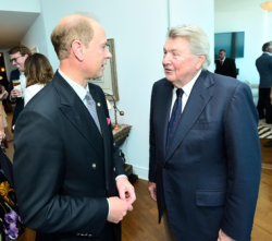 Prince Edward and Barry Montgomery