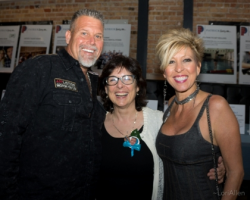 """""""Patrick Lives On"""" founder Patricia Frontain (center) with friends"""