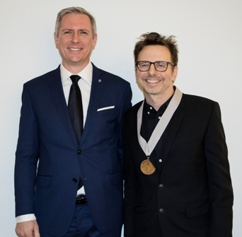 Chef of the Year - Jason Hammel (right) with Presenter Andrew Zimmerman (left)