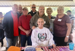 Reunion day in Dupo Community Park with Karen and Paul Weber, Mike Sager, Janice and Tom Thrasher and Tommy Hundley