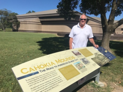 Visiting Cahokia Mounds, a national historic site in Collinsville, Illinois
