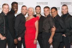 GDC advisory board member Pam Crutchfield with handsome GDC men dancers