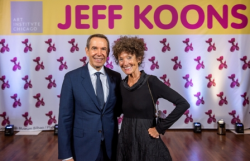 Jeff Koons with chair of European Painting and Sculpture & David and Mary Winton Green curator Gloria Groom