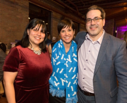 Anel Ruiz, Alaina Harkness (UI Board of Directors) and David Prystowsky