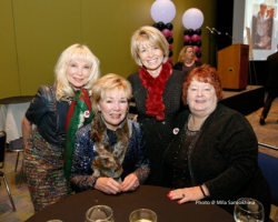 Lyn McKeaney, Peg Lombardo, Lois Gates and friend for Misericordia