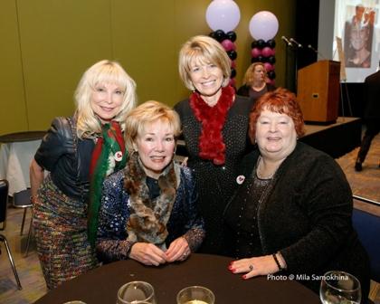 Lyn McKeaney Peg Lombardo  Lois Gates and friend.