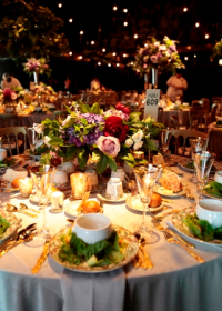 The festive Victorian garden-themed décor for GALA 2018 featured lush floral arrangements from Pollen and striking visuals from MDR Creative.