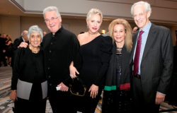 Joan Harris, 2018 Dushkin Award winner Pinchas Zukerman and Amanda Forsyth, Carol Prins and John Hart