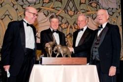 Presentation of Marshall Field Award to The Grainger Fndtn. with Richard Lariviere, John Chapman (accepting award on behalf of the Fndtn.), Bill Gantz, Marshall Field.