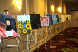 The Journey of Healing art exhibit created by domestic violence survivors