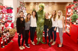 The Grinch with Brittany Sepulveda and the Macy's crack PR team