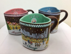Christkindlmarket souvenir mugs (Photo by Rich Hein-Sun-Times)