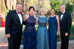 Biff Bowman (LP Zoo board chair), Krista Coan (Zoo Ball 2018 co-chair), Caroline Huebner (WB president), Allyson Pooley (Zoo Ball 2018 co-chair), Kevin Bell (LP Zoo president/CEO)