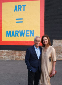 Mayor Emanuel and Marwen's former pres/CEO Antonia Contro