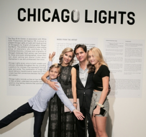 Chicago Lights creator/photographer Abigail Zoe Martin, husband Leonardo and family
