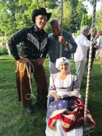 Chuck with Will Rogers and Betsy Ross