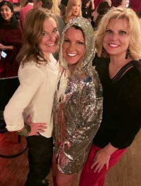 Brenda Langstraat, shining hostess Mika Stambaugh and Lisa Fielding
