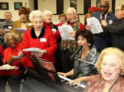 Maria Pappas hosts her annual holiday party at the Treasurer's office