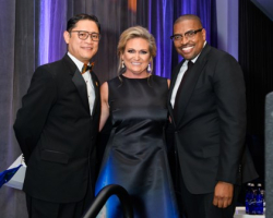 Ric Estrada (President/CEO Metropolitan Family Services), Kecia Steelman (COO, ULTA Beauty and board member, Metropolitan Family Services) and Maurice Smith (President, Blue Cross Blue Shield of Illinois)