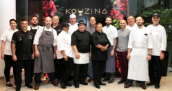 All Kouzina 2018 participating Chefs: Louie Alexakis (Avli Taverna); George Bournas (Psistaria); Sophie Evanoff (Vanille Patisserie); Larry Feldmeier (The Albert); John Gatsos (Tavern on Rush); Mark Grimes (Che Figata); Nate Henssler (Portsmith); Peter Kappos (Greek Islands); Tom Leo (Grecian Delight Foods); Jorgina Pereira (Sinha Elegant Cuisine); Alain Roby (All Chocolate Kitchen); David Schneider (Taxim); Adam Tanner, (CityGate Grille); and Elizabeth J. Tokarczyk (Inspired Catering and Events)