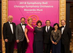 David E. McNeel, Casey and Leigh Ann Herman, Donna L. Kendall, Riccardo Muti, Keiko Alexander and CSOA President Jeff Alexander