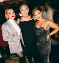 With Elena Soboleva (R) and friend