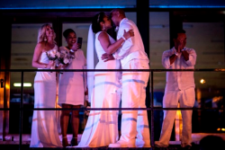 Wedded bliss at Diner en Blanc for Blaine Washington and Matthew Lawson!
