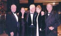 More NY Christmas Party fun with Chuck, me, Whitey Pearson, Tissy Eggleston and John Kennington