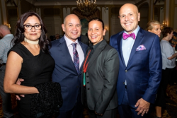 Rochelle Gomez, Dance for Life 2018 Co-Chair Mark Ferguson Gomez, Angela Gomez, Dance for Life 2018 Co-Chair Tom Ferguson Gomez