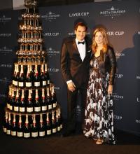 Roger Federer and wife Mirka.