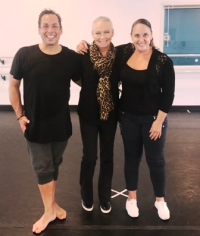 With choreographer Ray Leeper and Nan Giordano