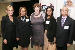 First Lady Amy Rule, Diane Primo, Mary Ellen Caron (ASM CEO), Smita Shah (ASM board member) and Niranjan Shah