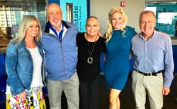With WGN radio's Mary Sandberg Boyle, Steve Cochran, Stephanie Menendez and Dave Eanet