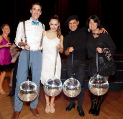 DWGS winners Ben Hess with GDC's Ashley Downs, GDC's Cesar Salinas with Tina Monaghan