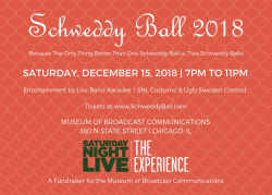"Museum of Broadcast Communications ""Schweddy Ball"" on December 15"