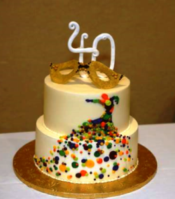 Anniversary cake to celebrate 40 years of service in Lake County donated by the Bent Fork Bakery in Highwood.